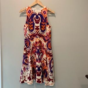 Donna Morgan Ikat Print Fit & Flare Dress